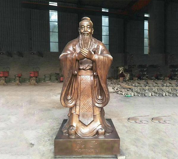 铸铜大型孔子像