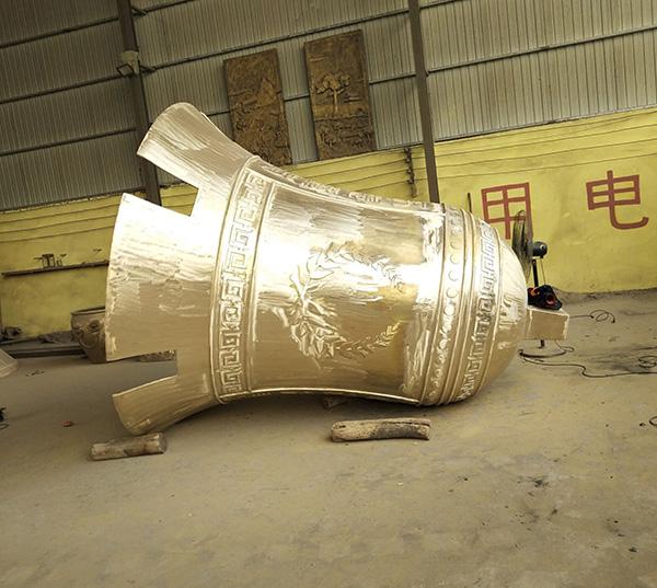 鎏金铸造铜钟