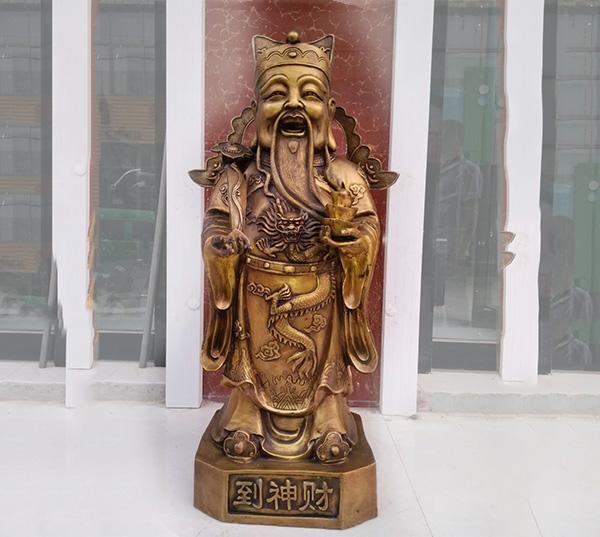 财神到铜财神像