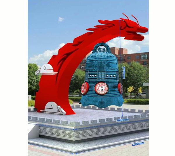 龙形玻璃钢雕塑