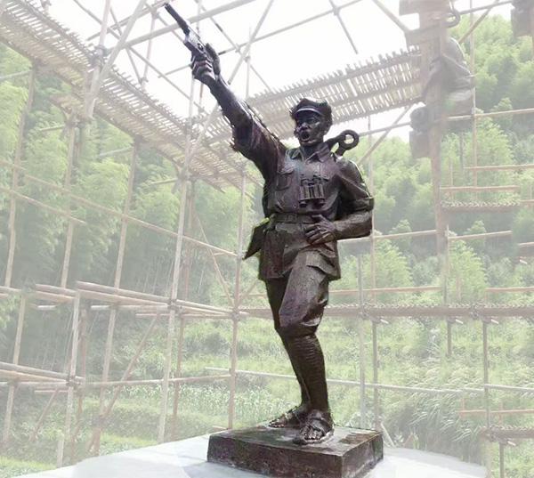 园林雕塑-战士