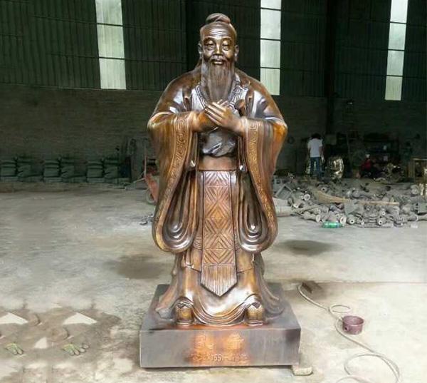 校园雕塑-孔子像