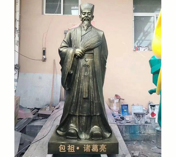 包祖诸葛亮铜像