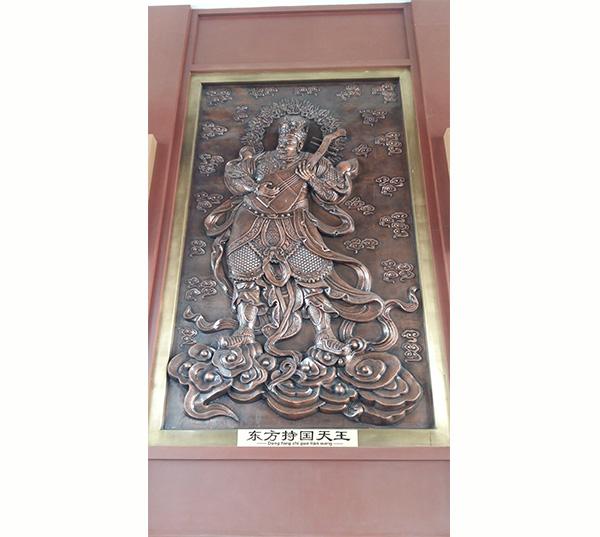 铜佛像浮雕