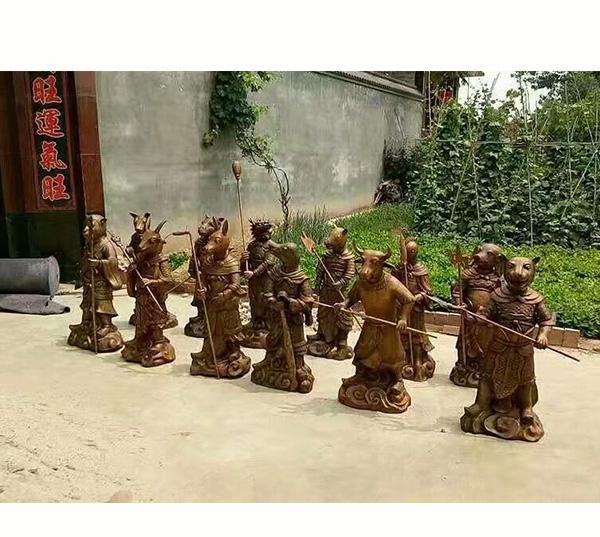 十二生肖铜像