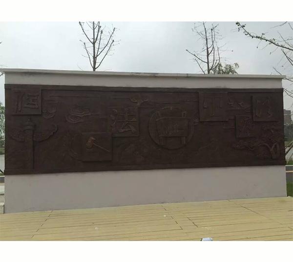 锻铜浮雕-法制铜雕墙