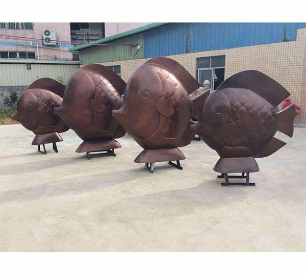 鱼-园林雕塑