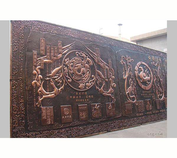文化内容铜浮雕