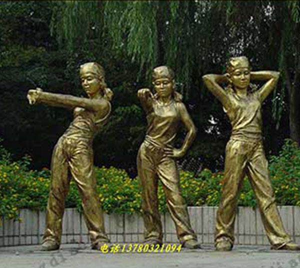 青春舞动铜像