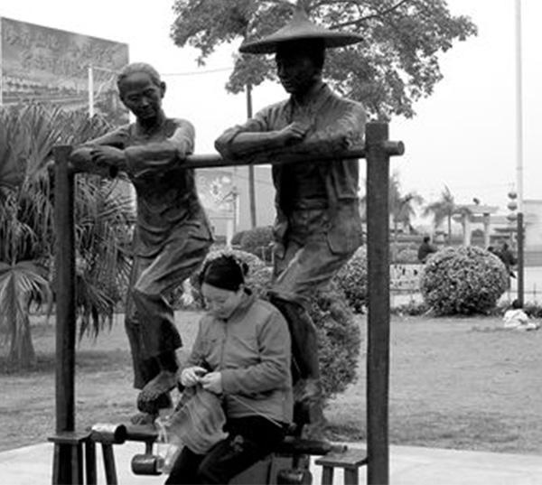 小区雕塑-渔家
