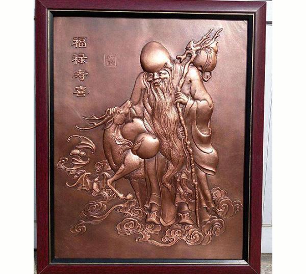 福禄寿喜锻铜雕塑