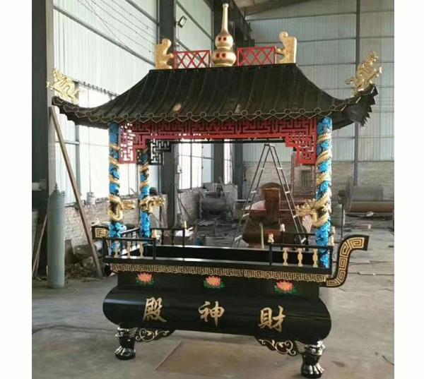 财神殿铜香炉图片