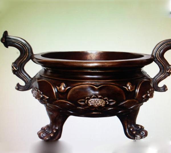 大型铜香炉家庭香炉