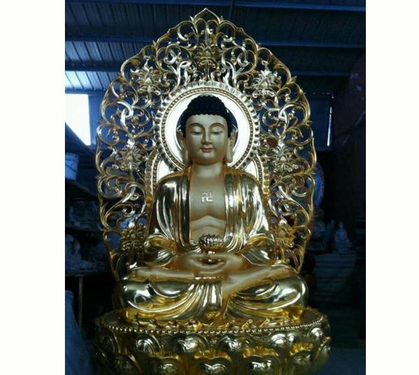 鎏金佛像-如来铜佛像图片