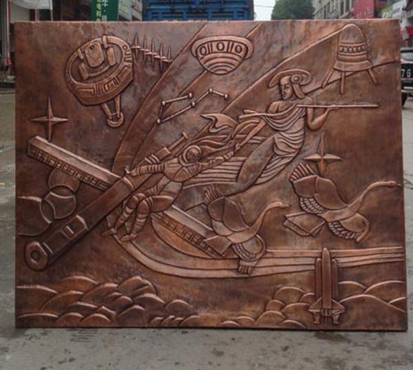 浮雕锻铜雕塑