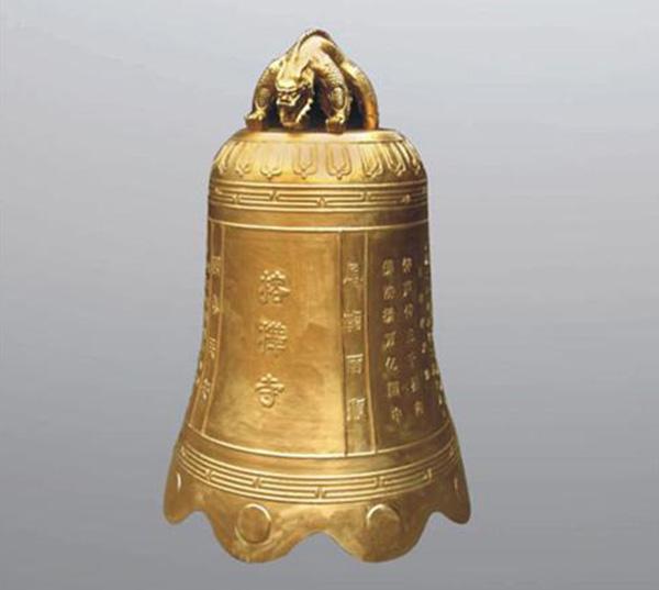 镏金篆字寺庙铜钟铸造
