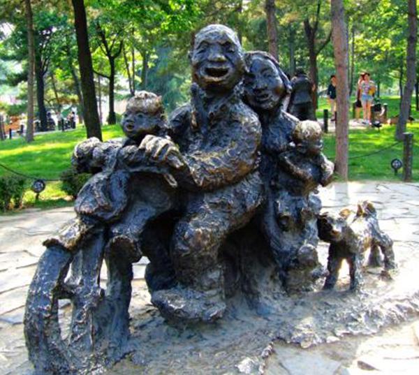 陕西民俗铜雕