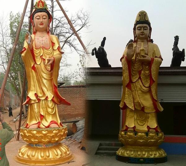铜观音站像大型佛像