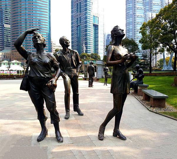 欧式街头人物雕塑