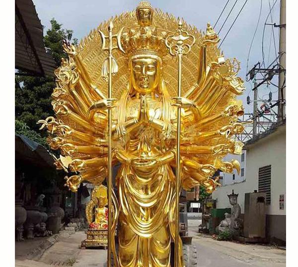 金身千手观音铜佛像