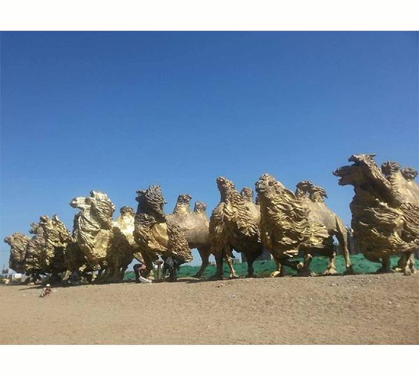 铸铜雕塑骆驼