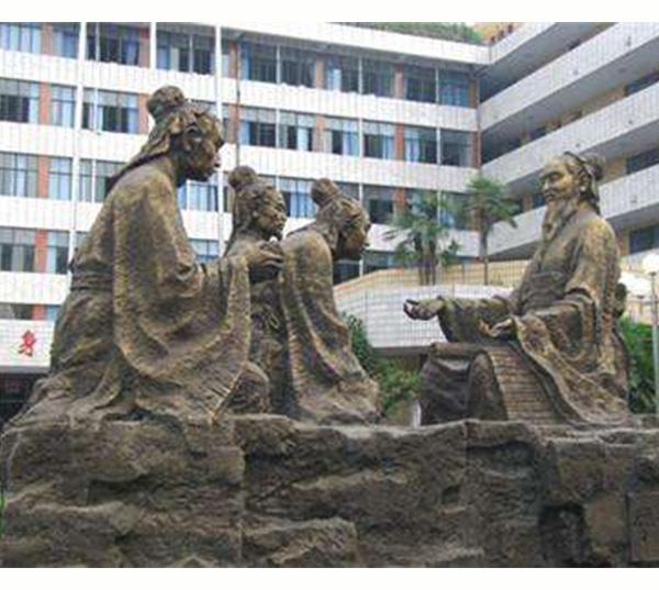 古代教育文化雕塑
