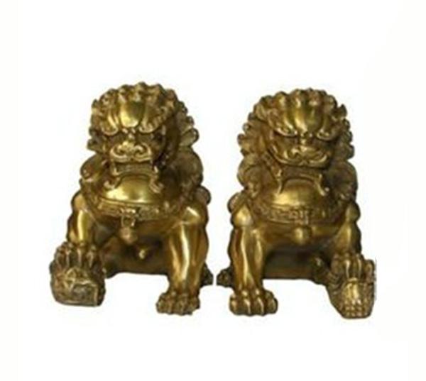 鎏金故宫狮