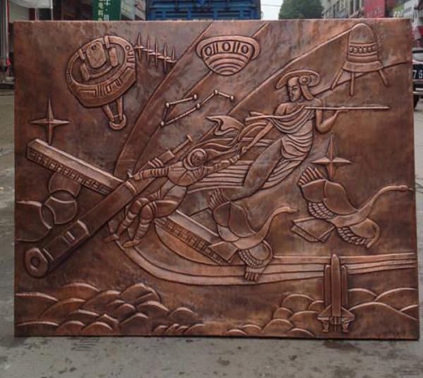 锻铜雕塑图片