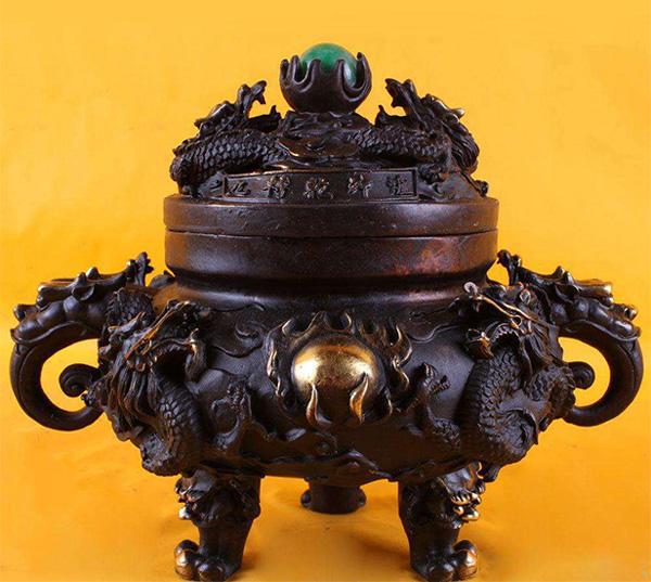 风水招财铜香炉设计