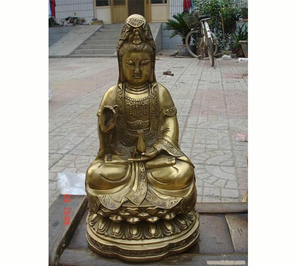 铜观音佛像