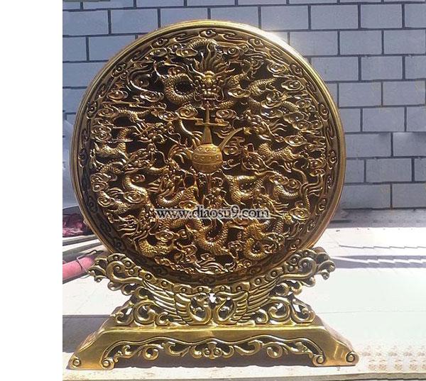 九龙壁铜浮雕