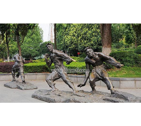力量街头雕塑