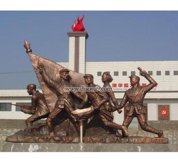 广场铸铜雕塑