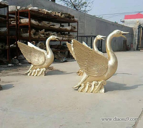 园林雕塑铜鹤
