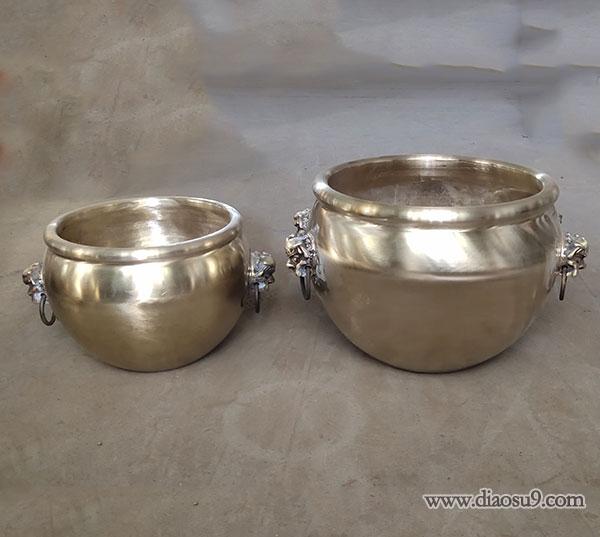 铸铜缸雕塑