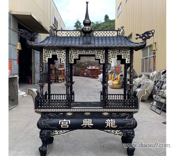 长方形铜香炉