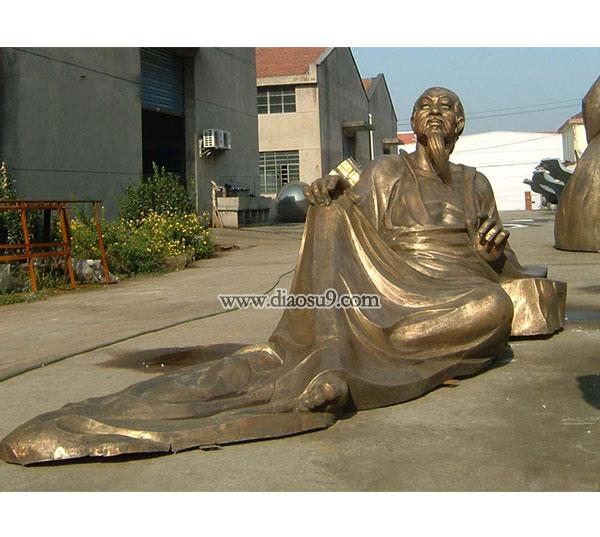 锻铜雕塑-杜甫