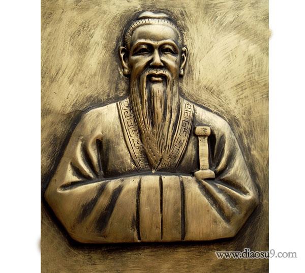 锻铜孔子像雕塑