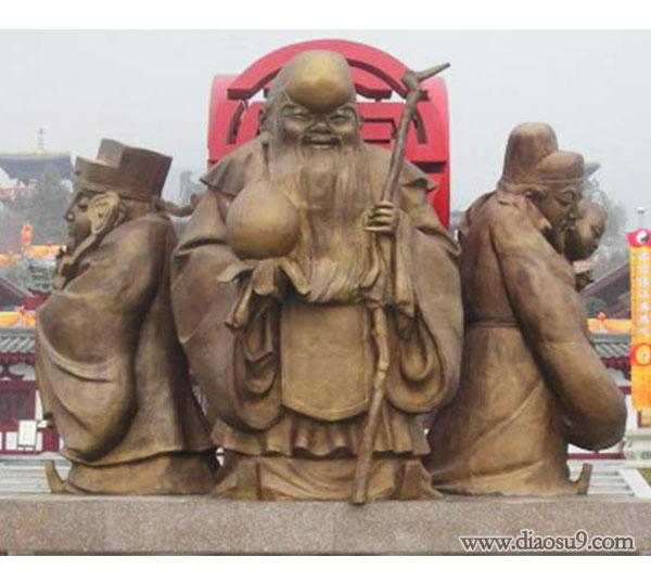 寿星老铜像