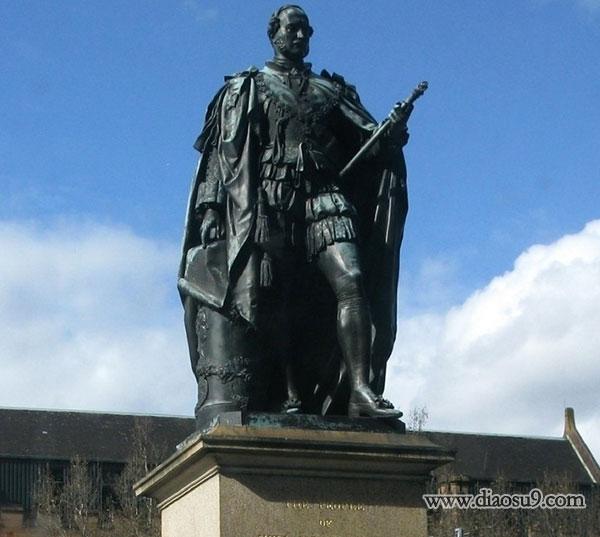 西方人物铜像