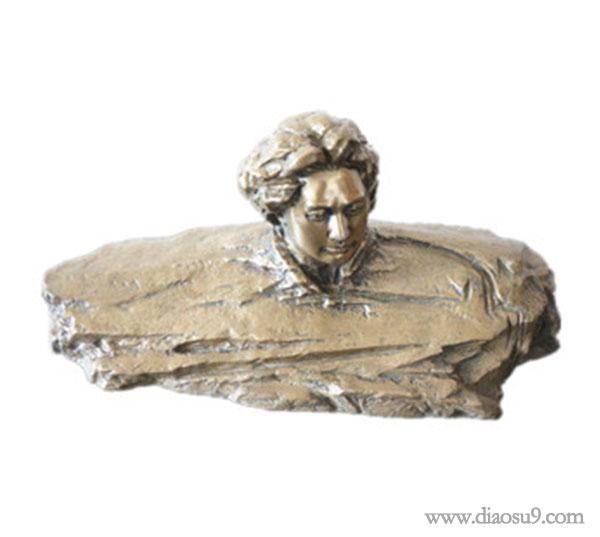 毛主席创意铜像