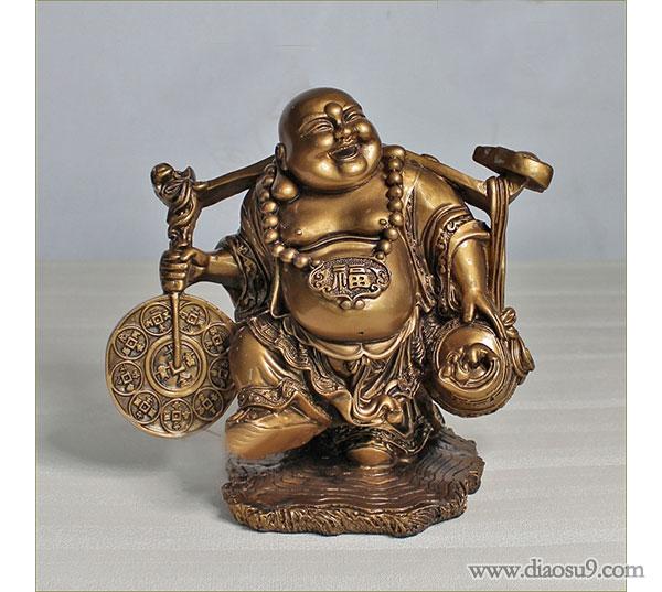 送财弥勒佛像