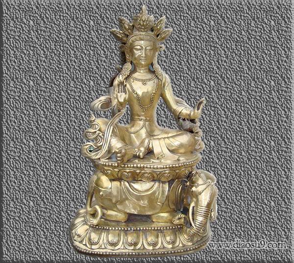 藏传鎏金佛像