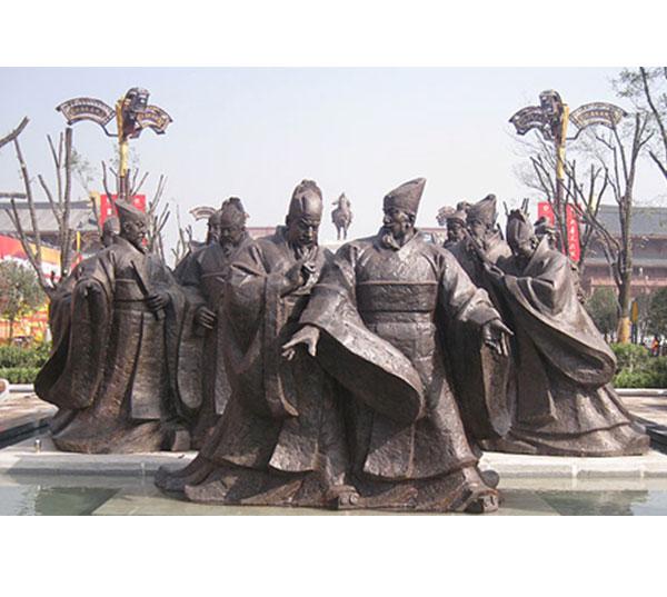 历史人物铜像