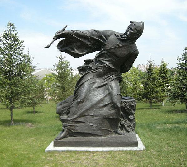 园林画家铜像