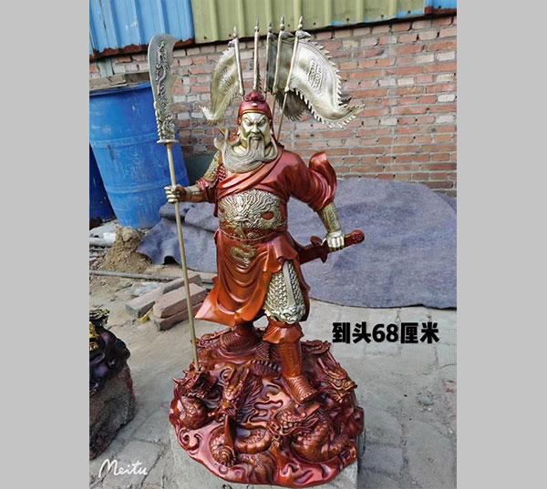 铜关公像雕塑